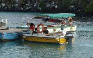 El Taxi-Barco es uno de los medios usuales para moverse entre hotles y desde los barcos turísticos